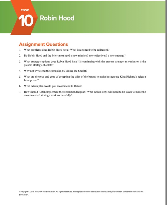 objectives for robin hood Robin hood case study - free download as word doc new objectives a new strategy robin hood and his band are in need of a fresh strategy in response to external.