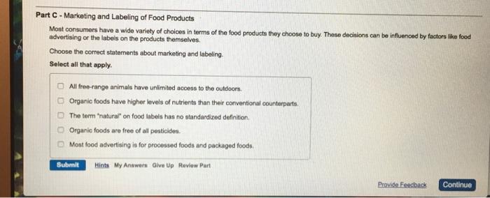 Organic Food Definiton