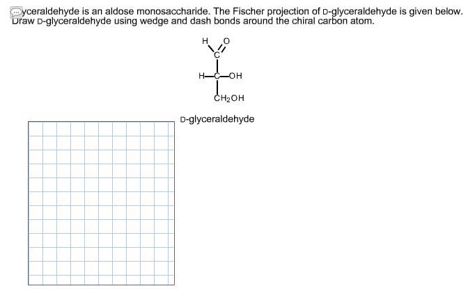 Glyceraldehyde Is An Aldose Monosaccharide The