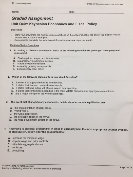 assignment relating to different global financial policy