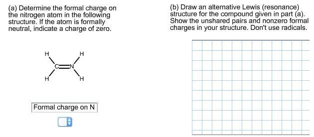 (b) Draw An Alternative Lewis (resonance) Structure ...