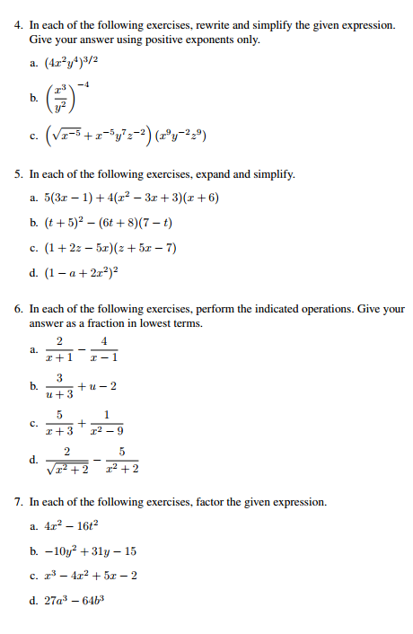 Math homework help exponents