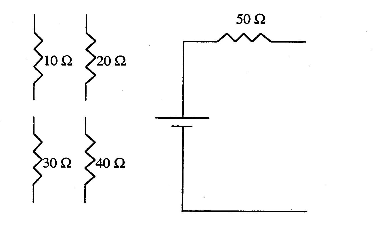 complete the circuit below which  when the voltage