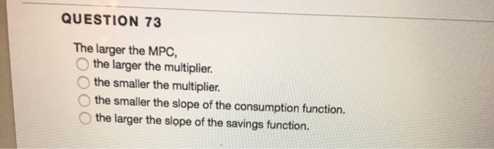 mpc and multiplier relationship questions