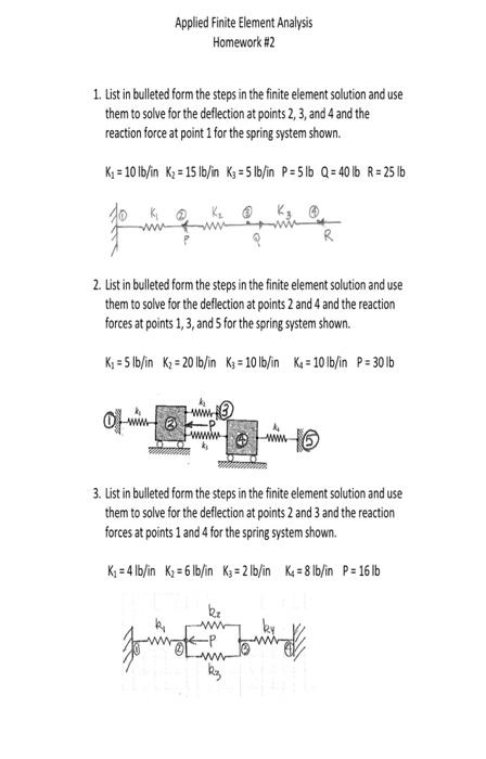 finite element homework