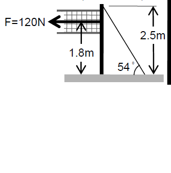 4 Consider Volleyball Pole Shown Figure Volleyball   Exerts Force 120 N Left Height 18 Q3269136