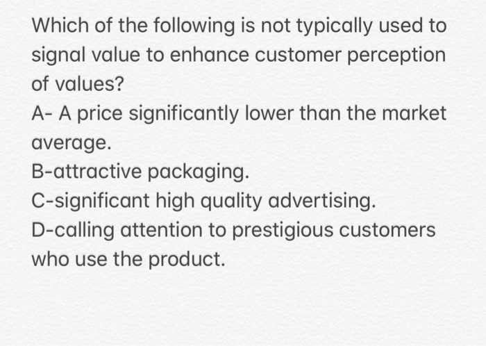price quality relationship perception and attention