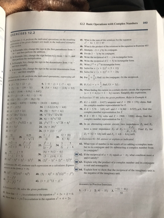 how to find the reciprocal of a complex number