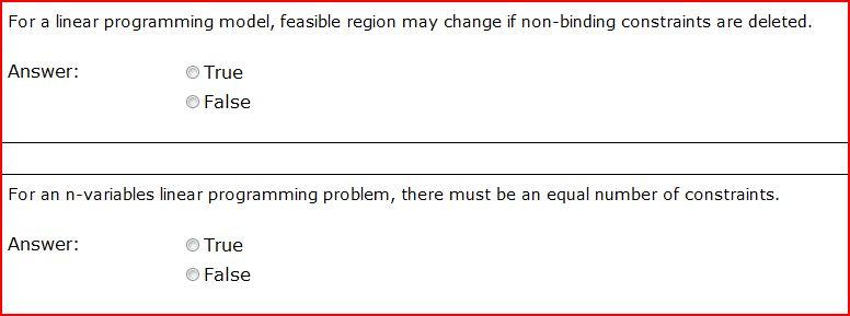 Linear Programming Assignment & Homework Help