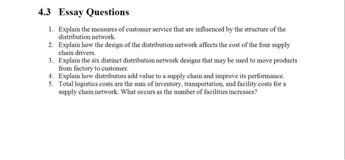 Logistics and phyical distribution essay
