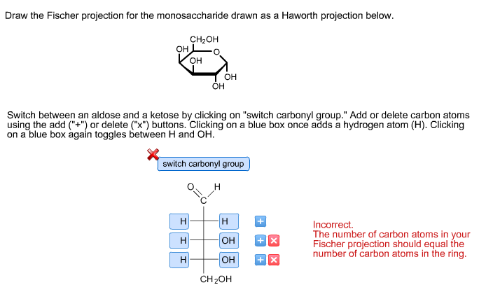 draw the fischer projection for the monosaccharide