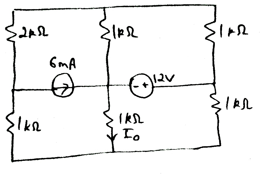 find the thevenin equivalent of the circuit across