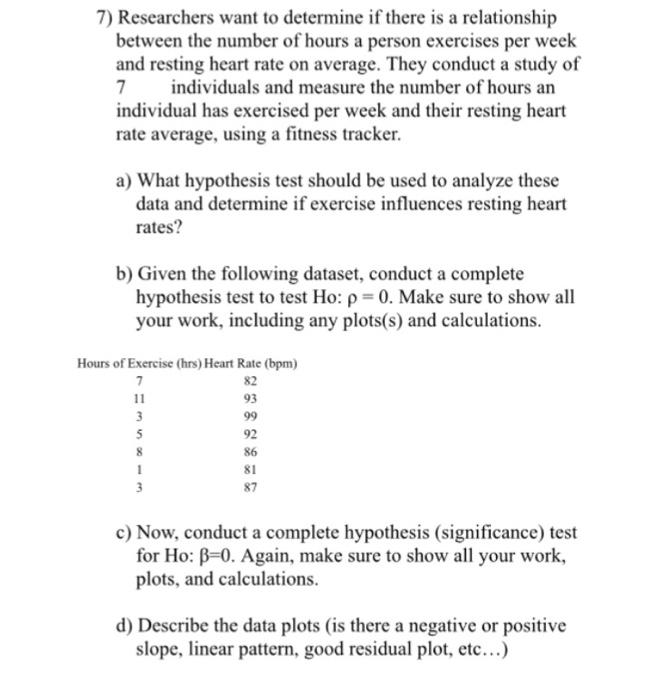 relationship between heart rate and work algebra