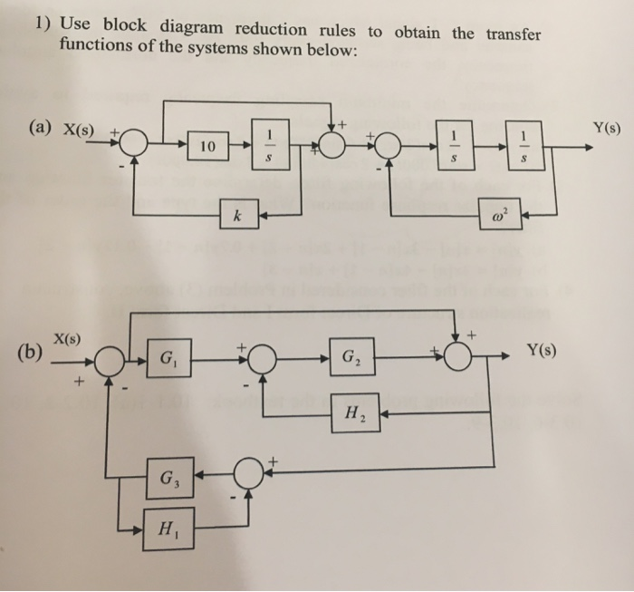 solved use block diagram reduction rules to obtain the tr. Black Bedroom Furniture Sets. Home Design Ideas