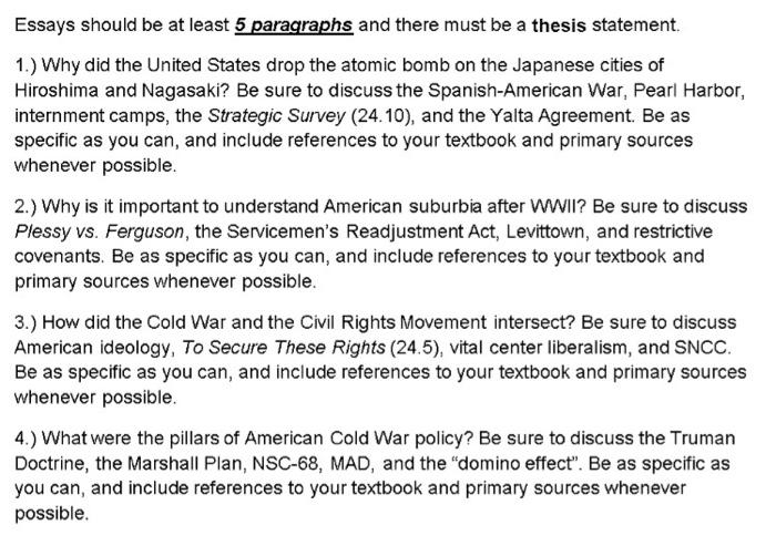 atomic bomb essay conclusion