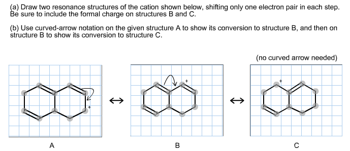 Draw two resonance structures of the cation shown chegg com