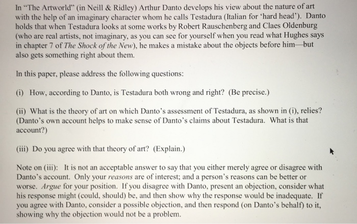 Arthur danto the artworld essay help