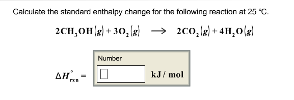 Calculate The Standard Enthalpy Change For The ... | Chegg.com
