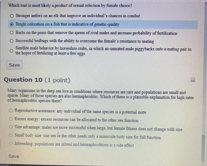 Which Trait Is Most Likely A Product Of Sexual Sel ...
