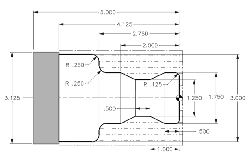 6 Write Complete Cnc Lathe Program Entire Roughing Finish Passes Lathe Shown Using Followi Q3137272 on Connecting Rod Length