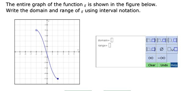 the entire graph of the function g is shown in cheggcom