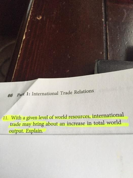 Pattern of International Trade
