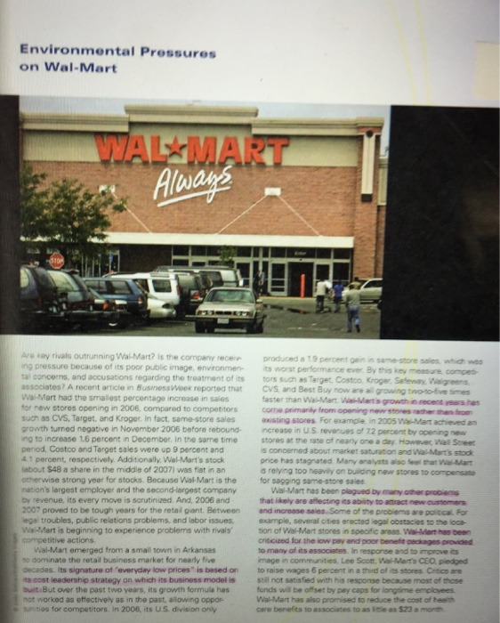 Ethical Issues Facing Wal-Mart