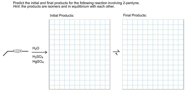 predict initial final reaction pentyne following involving isomers hint each equilibrium chegg isomer question