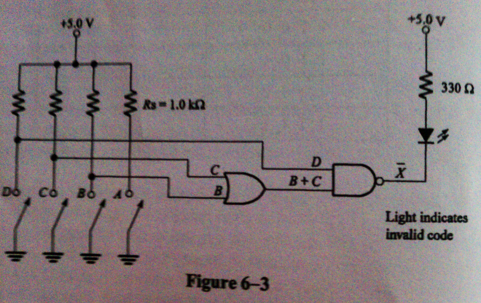 Use the fact that nand gates can make an or gate for Circuit nand