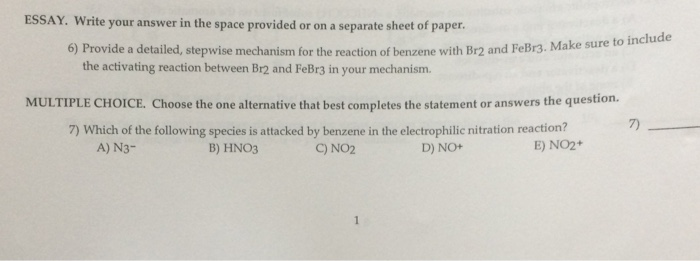 write a mechanism for the following reaction choose the most likely