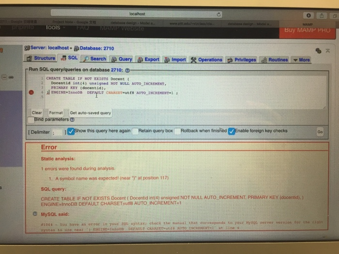 Solved create table if hot exists docent decanted lnt 4 - Sql create table auto increment ...