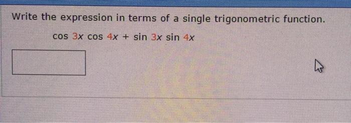 Simplify a Trigonometric Expression