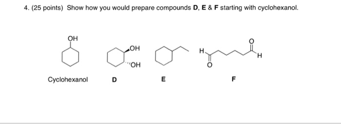Solved show how you would prepare compounds d e f star for 51090 text