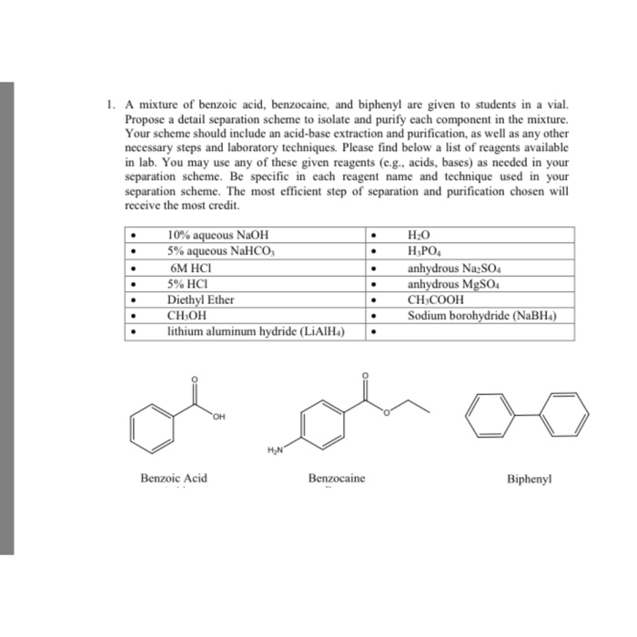 Base Extraction of Benzoic Acid from Acetanilide
