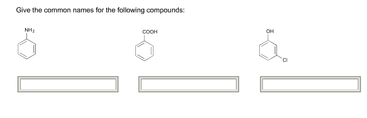 Give The Common Names For The Following Compounds Chegg Com