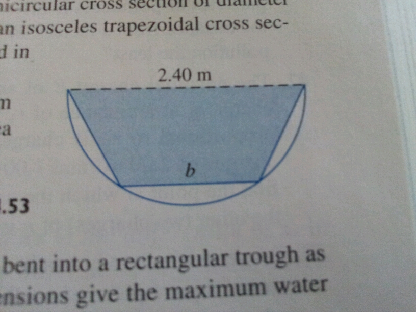 Semicircle Cross Sections Semicircular Cross Section