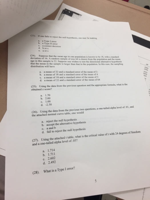 type i error and ii relationship questions