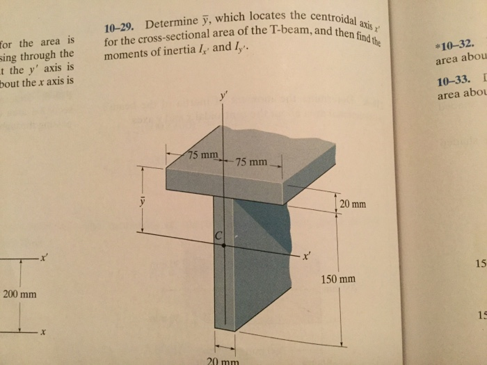 10-29: Determine Y, Which Locates The Centroid All