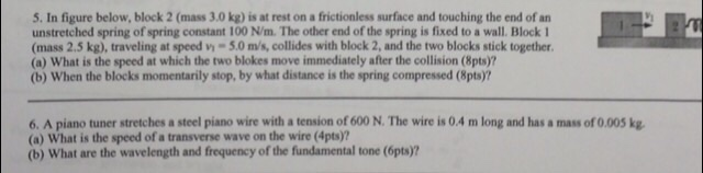 Physics HW help Please?