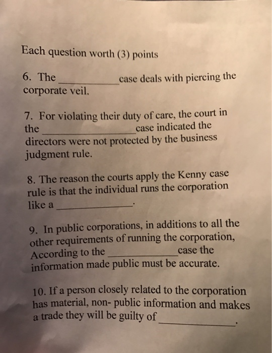 """piercing the corporate veil essay question The development of piercing veil in chinese corporate 1 introduction of """"piercing the corporate veil' the corporate law doctrine of 'piercing the corporate veil' is a longstanding feature of the corporate law of shareholder's capital contribution in which a corporate shareholder or ."""