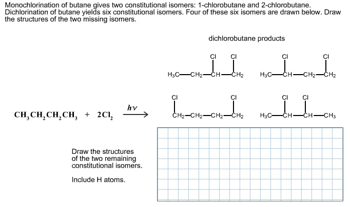 Monochlorination Of Butane Gives Two Constitutional ...