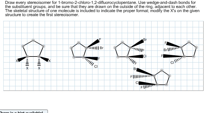 draw every stereoisomer for 1