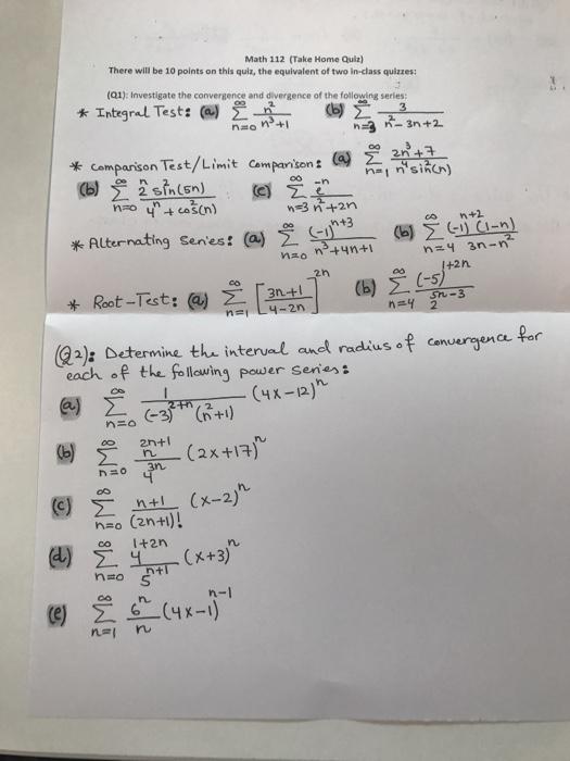 Take Home Exam 2