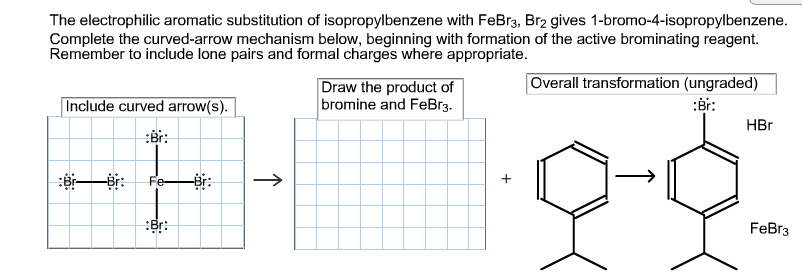 Electrophilic aromatic substitution formal lab