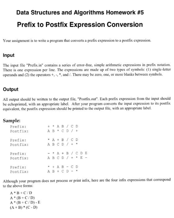 Convert Infix to Postfix in C++