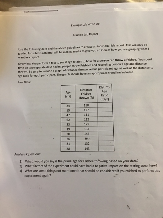 Individual differences lab report