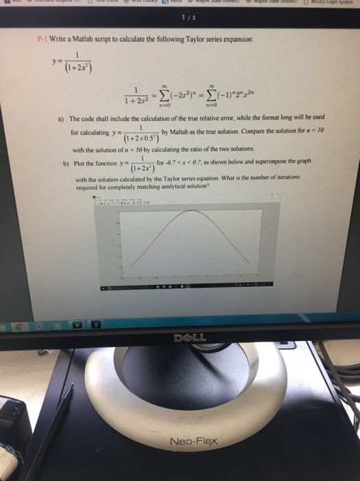 How to write a taylor series in matlab?