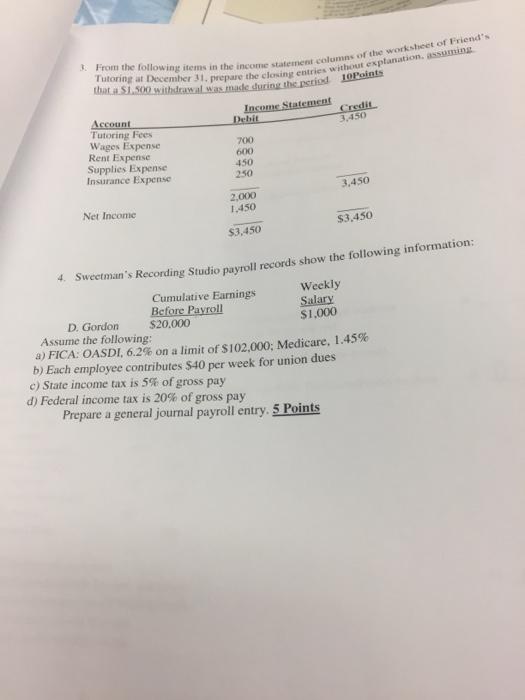Income statement worksheet versaldobip davezan