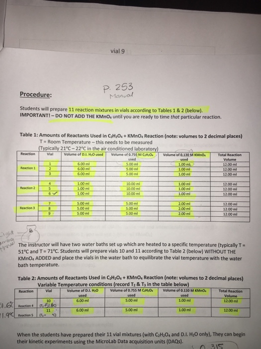 Help with laboratory report