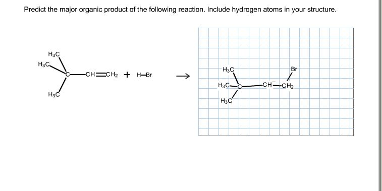 Draw The Organic Product of Following Reaction Organic Products